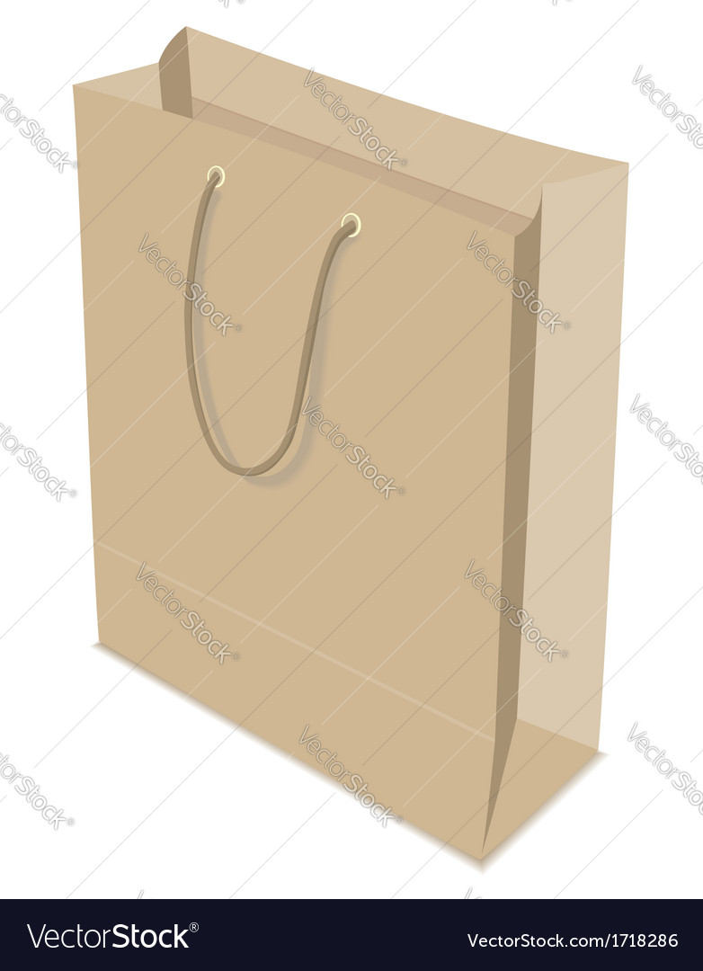 Paper bag isolated vector | Price: 1 Credit (USD $1)