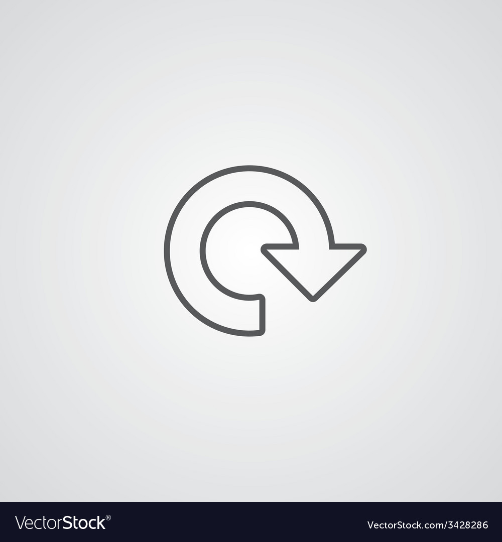 Reload outline symbol dark on white background vector | Price: 1 Credit (USD $1)