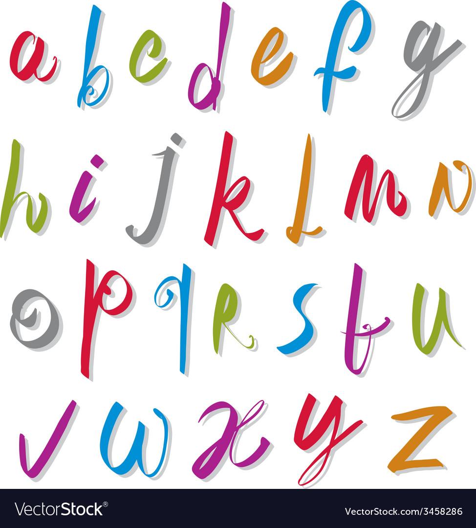 Script handwritten font alphabet letters vector | Price: 1 Credit (USD $1)