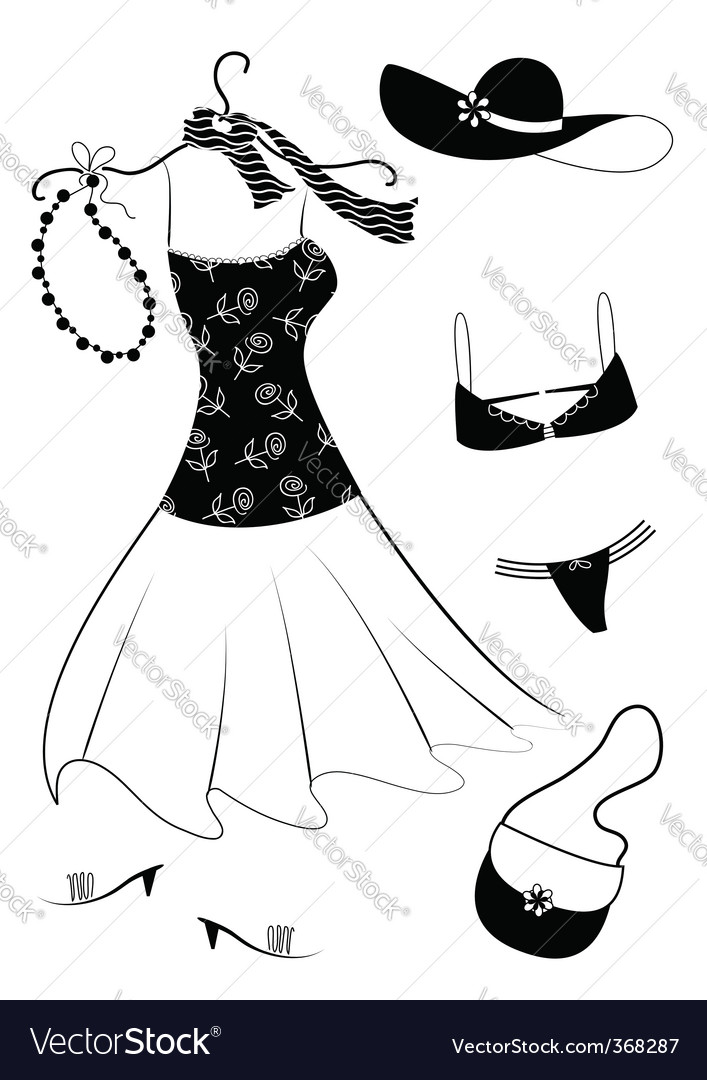 Dresses women vector | Price: 1 Credit (USD $1)