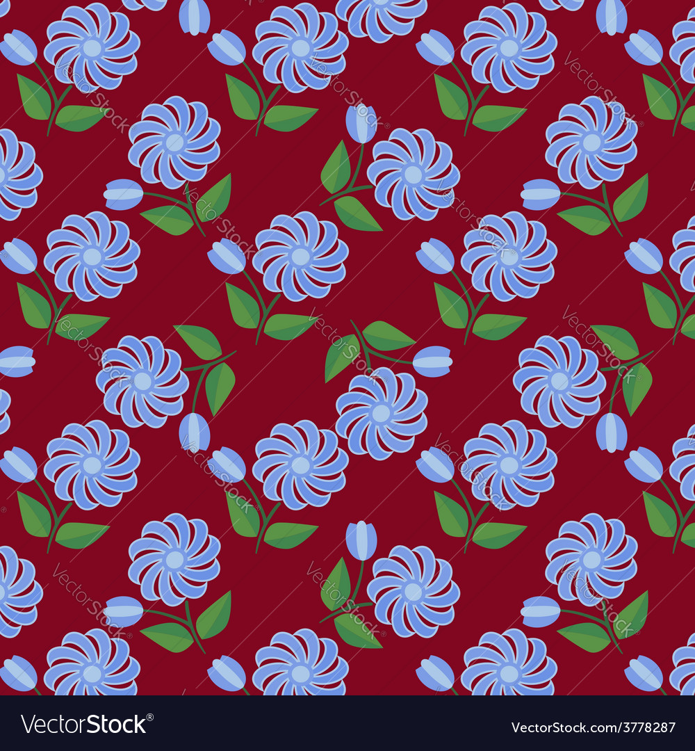 Floral seamless 2 vector | Price: 1 Credit (USD $1)