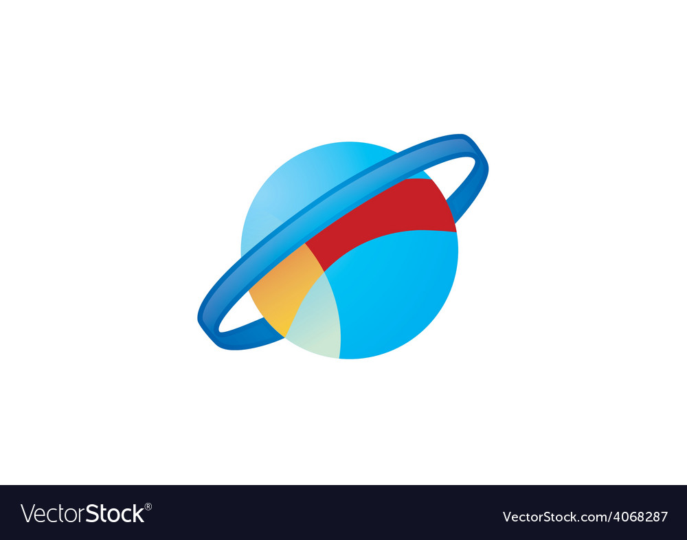 Globe orbit planet logo vector | Price: 1 Credit (USD $1)