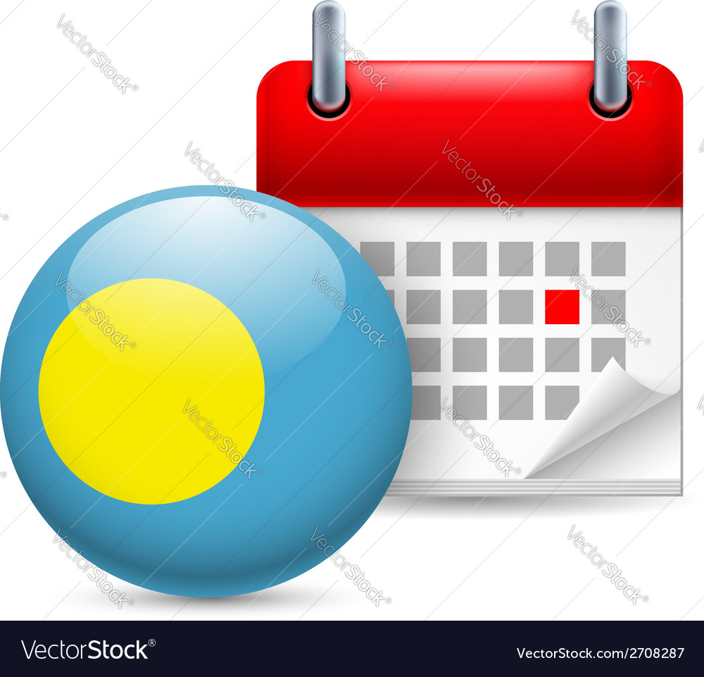 Icon of national day in palau vector | Price: 1 Credit (USD $1)