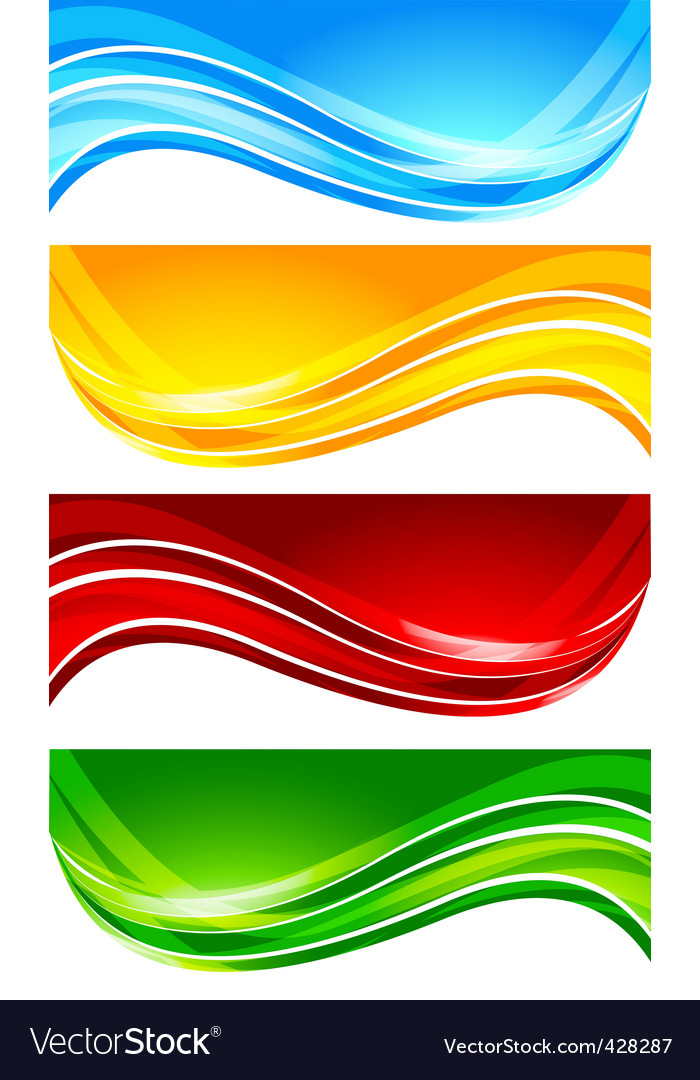 Set of abstract bright banner vector | Price: 1 Credit (USD $1)