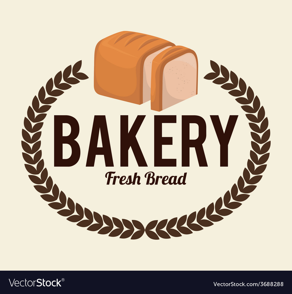 Bakery design over white background vector | Price: 1 Credit (USD $1)