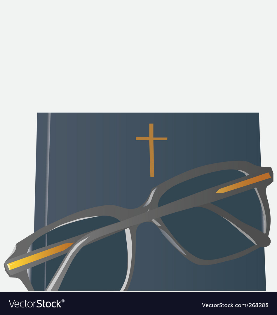 Bible glasses vector | Price: 1 Credit (USD $1)
