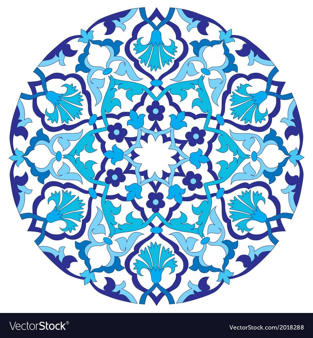 Blue oriental ottoman design twenty four vector | Price: 1 Credit (USD $1)