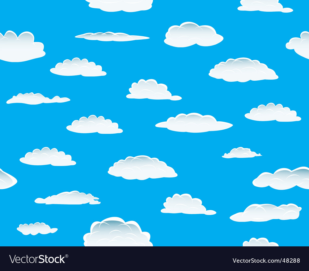 Clouds seamless vector | Price: 1 Credit (USD $1)