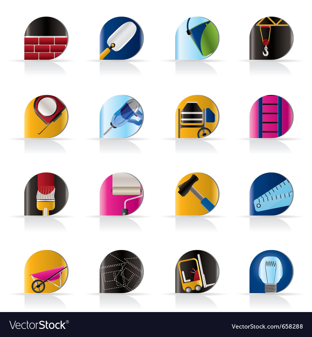 Construction and building icons vector   Price: 1 Credit (USD $1)