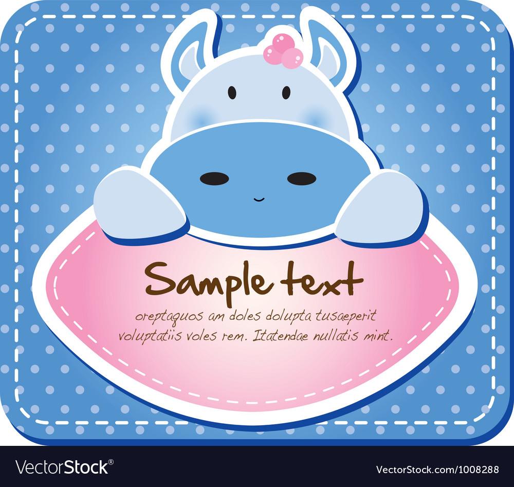Cute animal tab vector | Price: 1 Credit (USD $1)