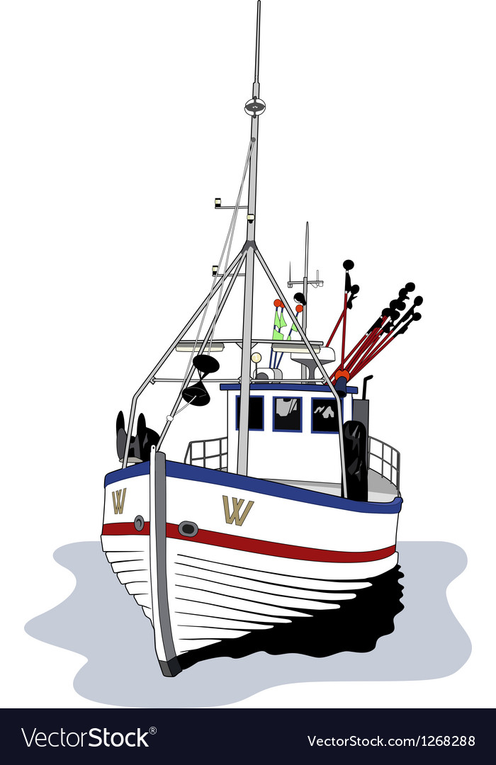 Fishing boat vector | Price: 3 Credit (USD $3)