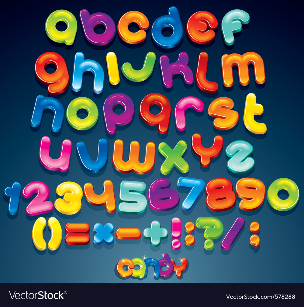 Funny cartoon alphabet vector | Price: 1 Credit (USD $1)