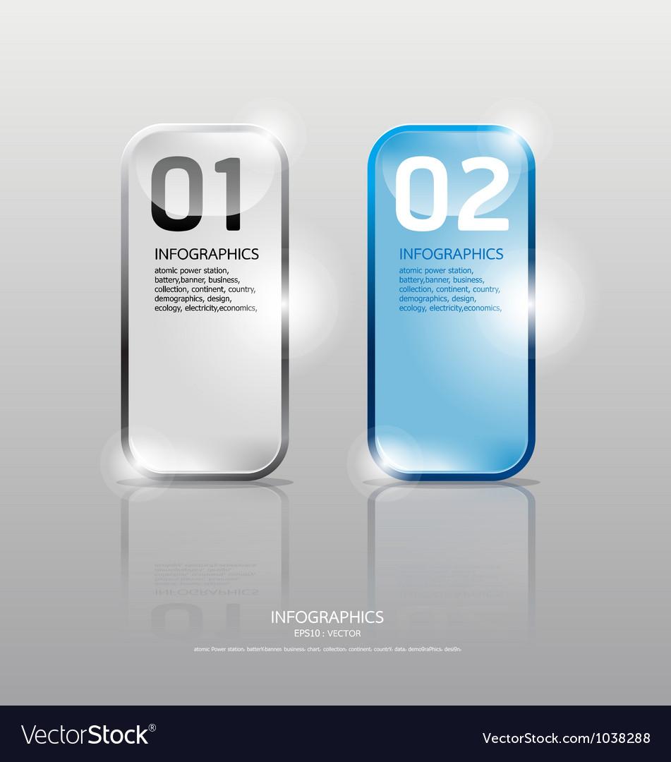 Glass framework set transparent glass plates vector | Price: 1 Credit (USD $1)