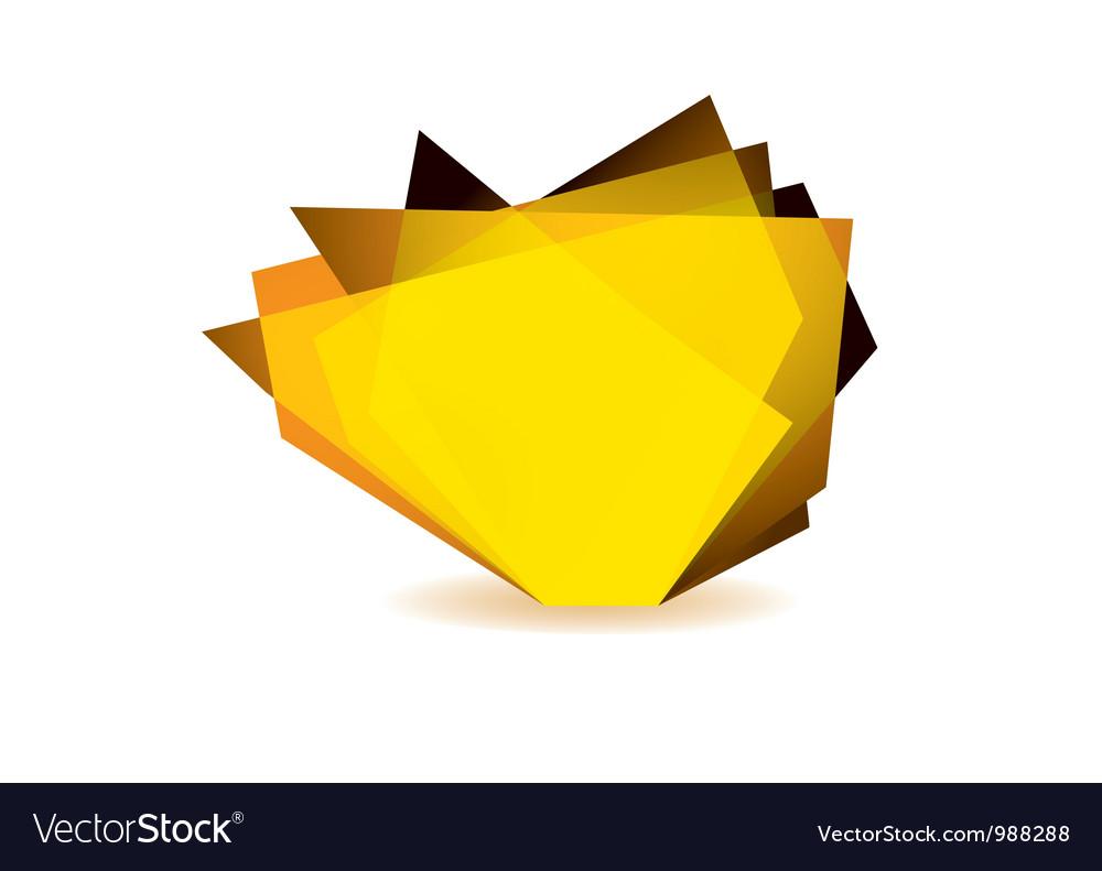 Glass shard orange vector   Price: 1 Credit (USD $1)