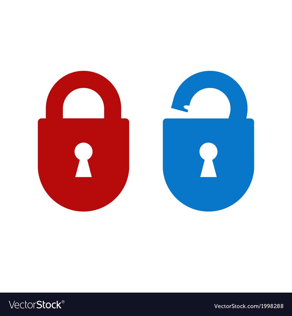 Lock unlock icon vector | Price: 1 Credit (USD $1)
