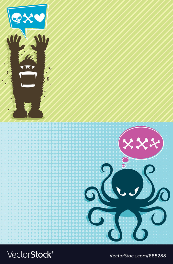 Monster backgrounds vector | Price: 1 Credit (USD $1)