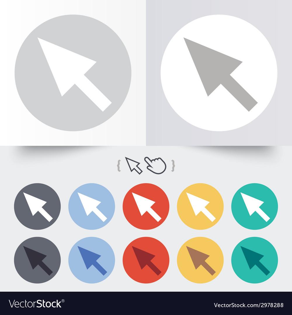 Mouse cursor sign icon pointer symbol vector   Price: 1 Credit (USD $1)