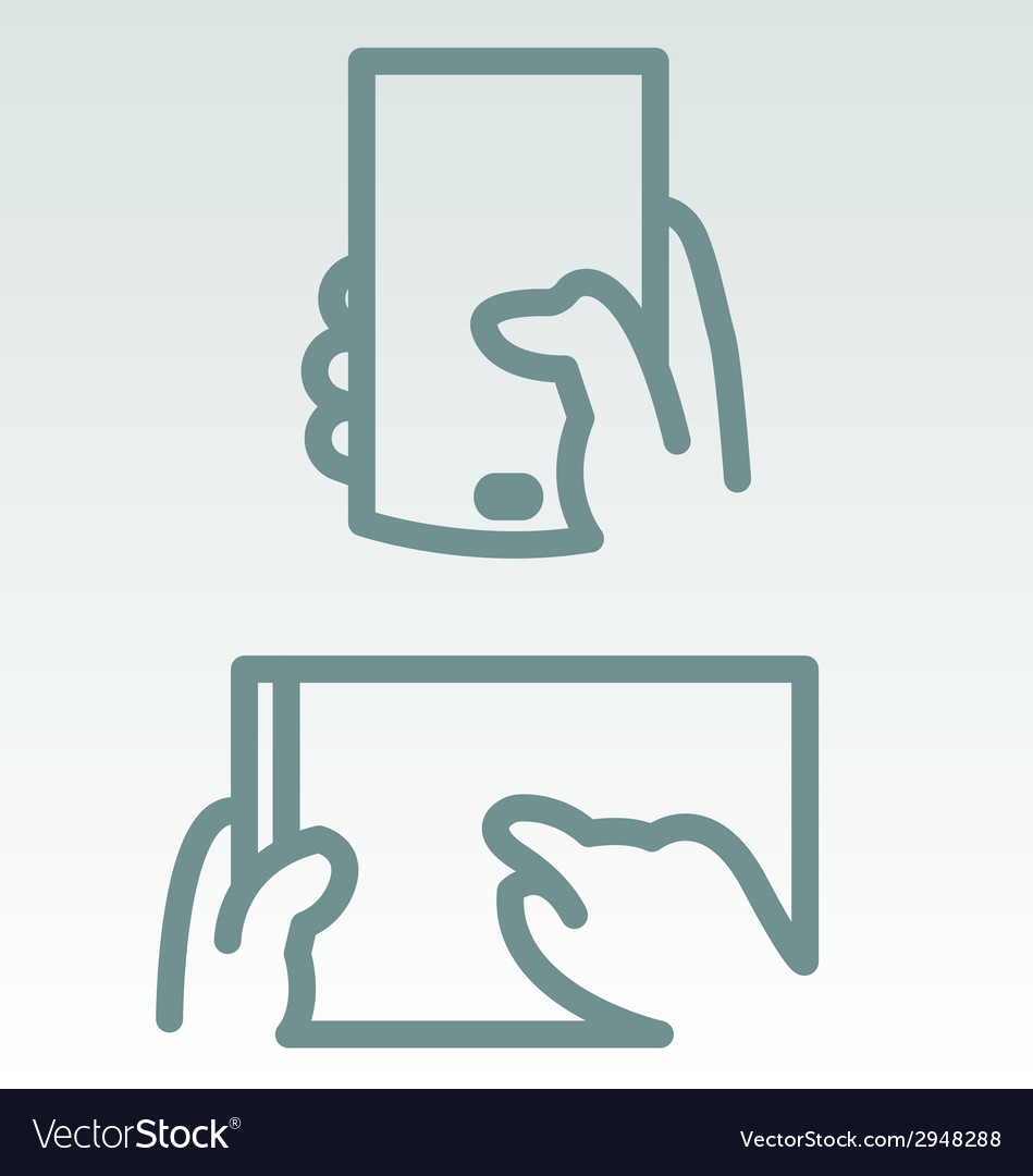 Phone and tablet use simple icons vector | Price: 1 Credit (USD $1)