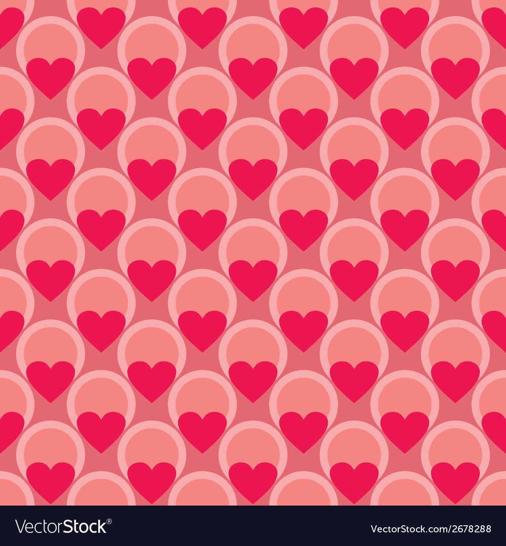Pink tile background with hearts and polka dots vector | Price: 1 Credit (USD $1)