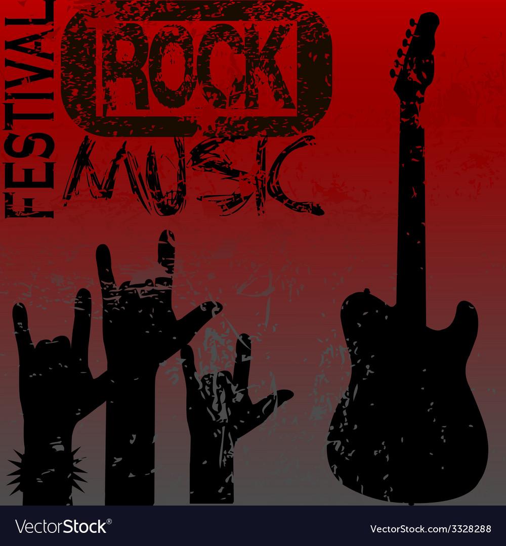 Rock music festival template vector | Price: 1 Credit (USD $1)