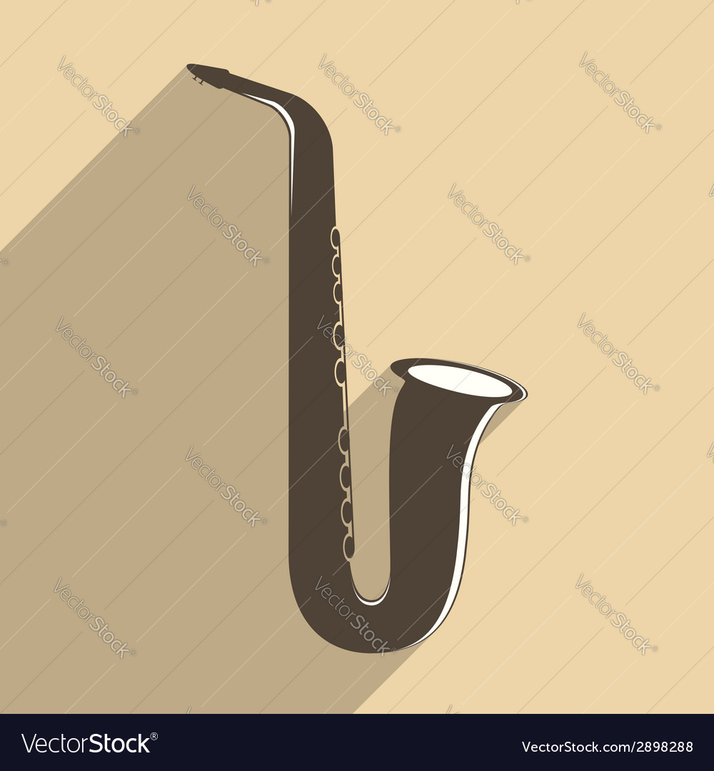 Saxophone icon vector | Price: 1 Credit (USD $1)