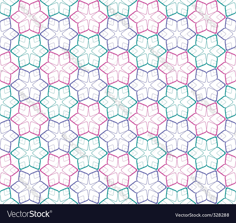 Seamless color pattern on white vector | Price: 1 Credit (USD $1)