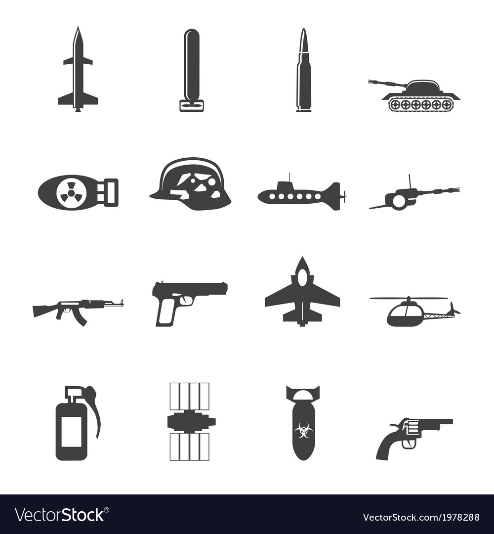 Simple weapon and war icons vector | Price: 1 Credit (USD $1)