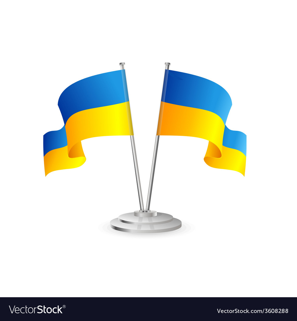 Ukraine table flag isolated vector | Price: 1 Credit (USD $1)