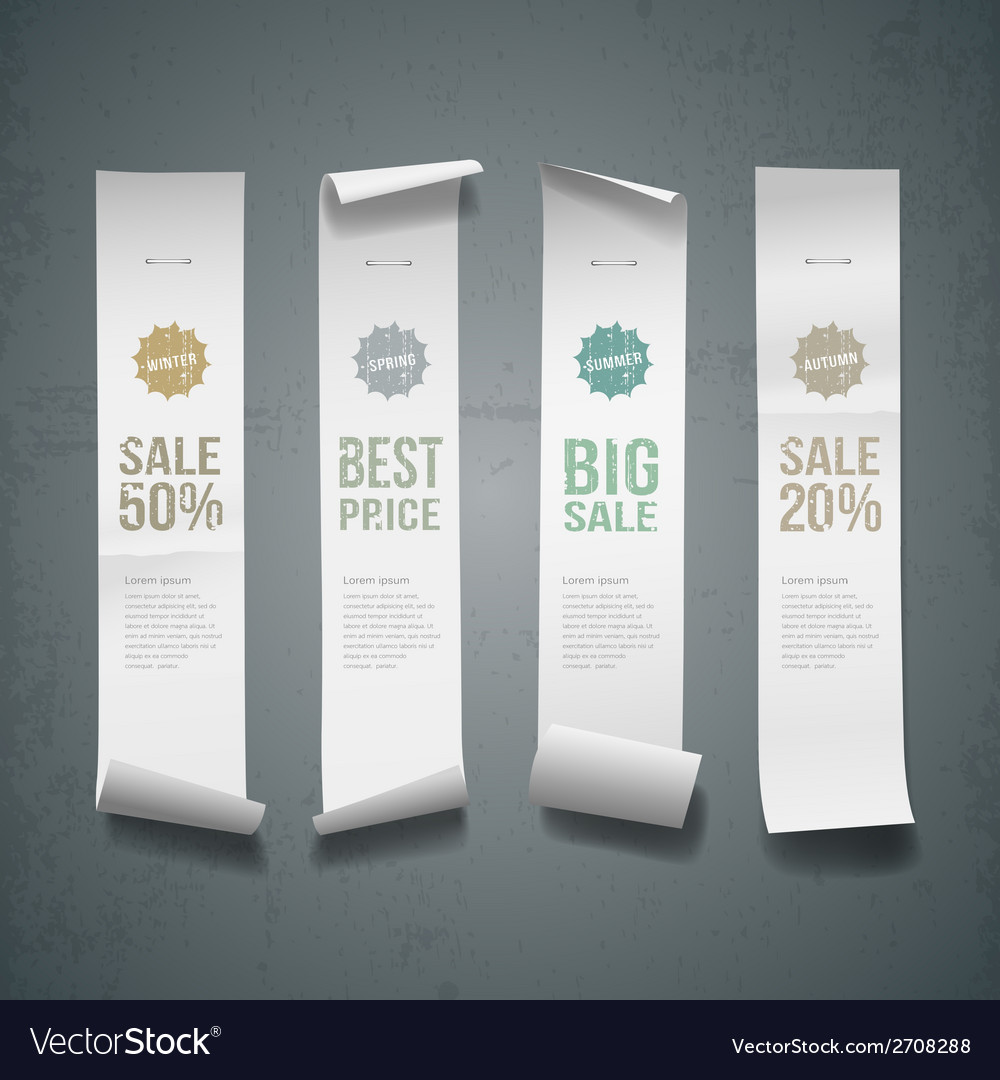 White paper roll long size vertical design vector | Price: 1 Credit (USD $1)