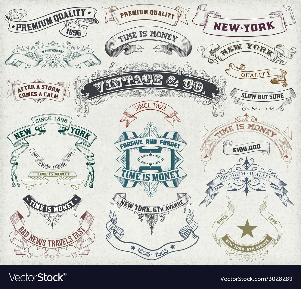 23 labels and banners vector | Price: 1 Credit (USD $1)