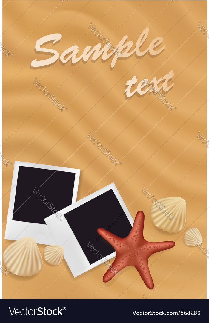 Beach design background vector | Price: 1 Credit (USD $1)