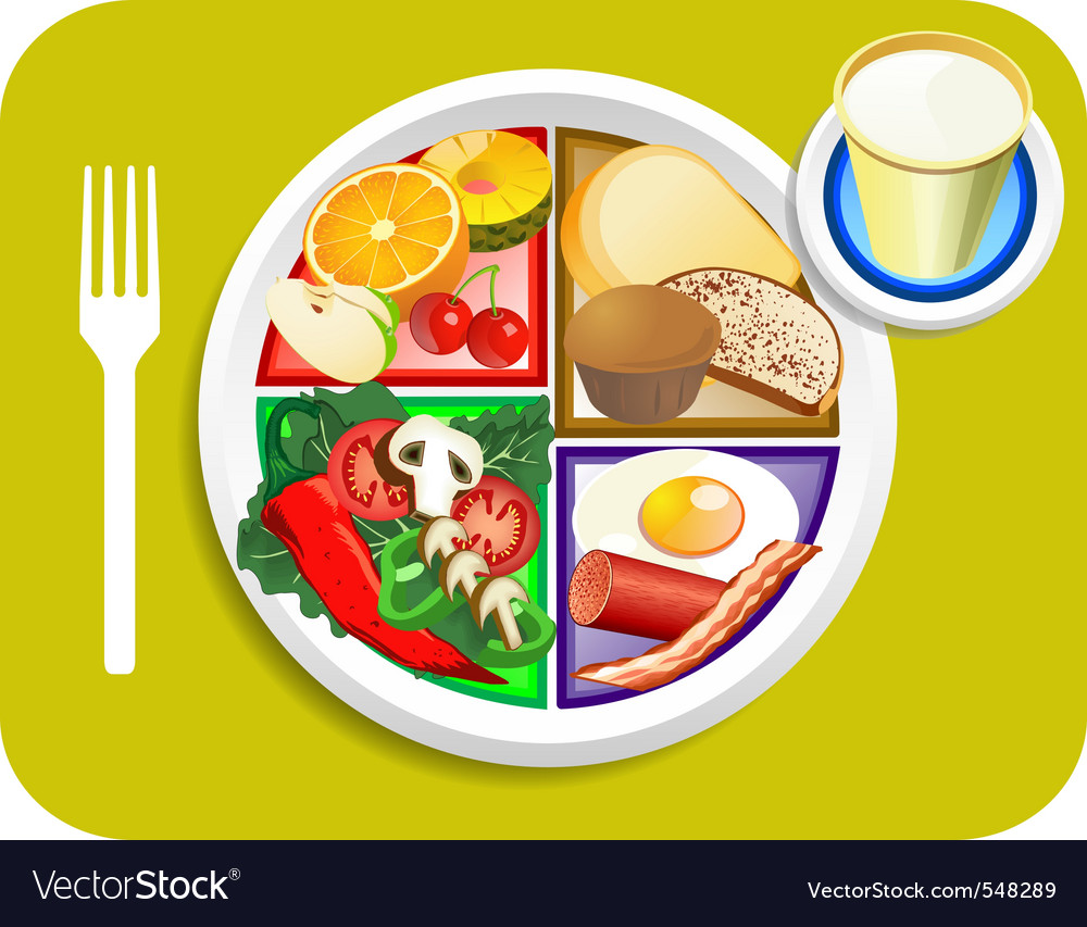 Breakfast items vector | Price: 3 Credit (USD $3)