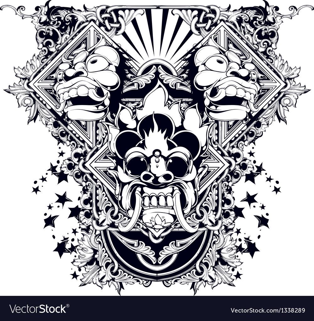 Evil design vector | Price: 3 Credit (USD $3)