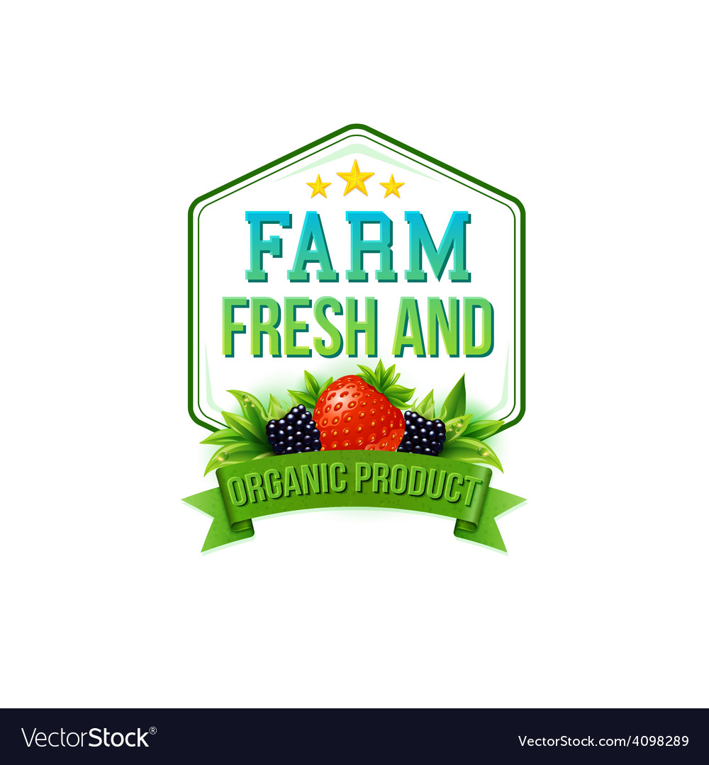 Farm fresh and organic product vector | Price: 3 Credit (USD $3)