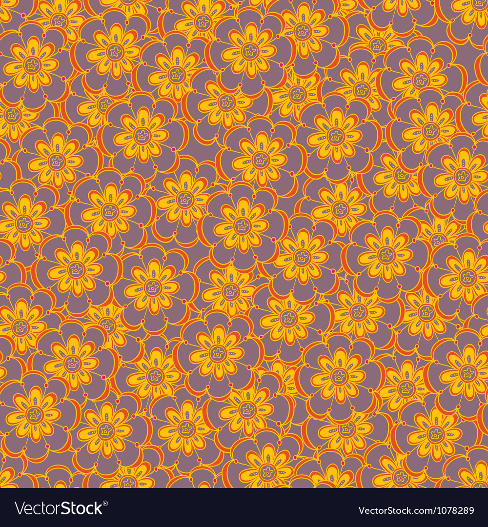 Floral seamless abstract hand-drawn pattern vector | Price: 1 Credit (USD $1)