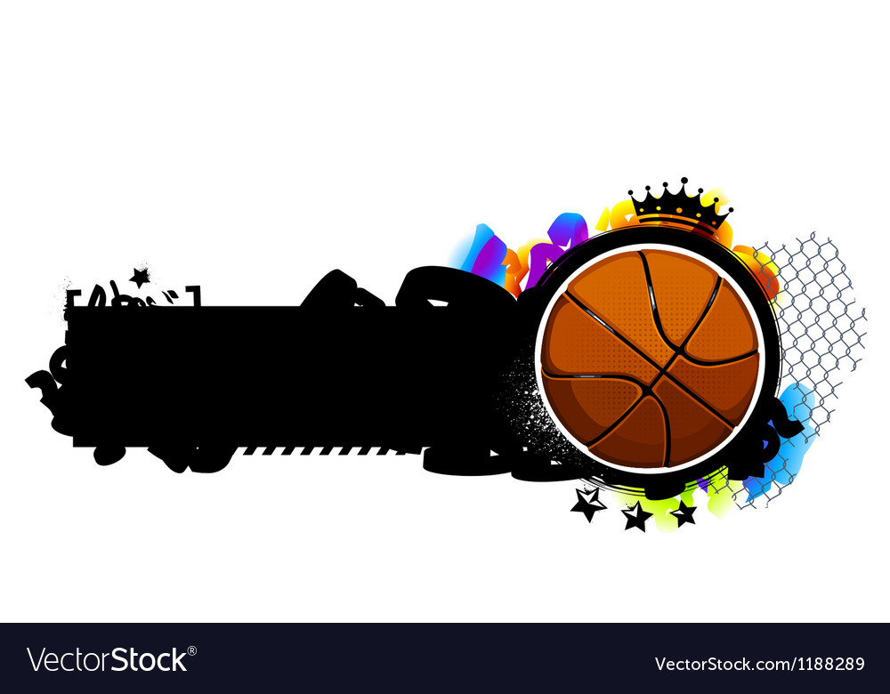 Graffiti image with basketball vector | Price: 1 Credit (USD $1)