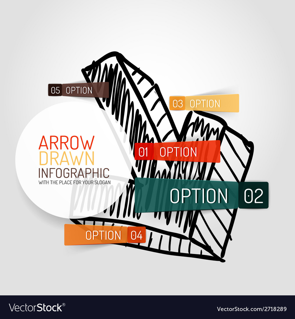 Hand drawn arrow design and infographics vector | Price: 1 Credit (USD $1)