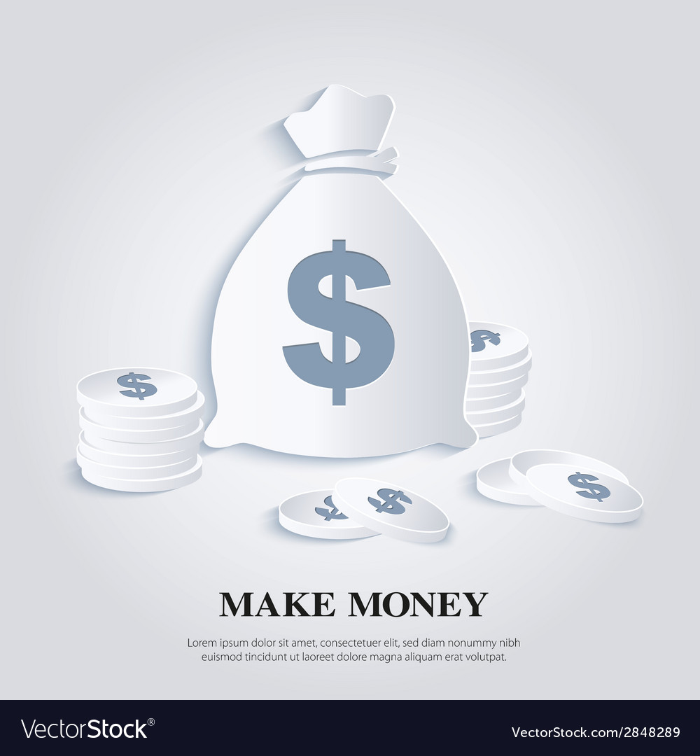 Icon with money bags and coins vector | Price: 1 Credit (USD $1)