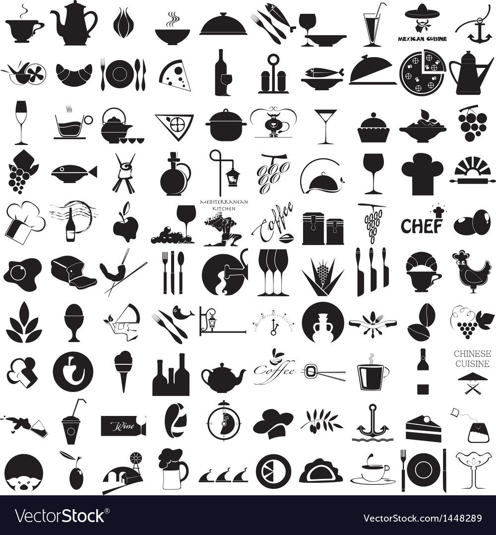 Icons for the gastronomy vector | Price: 3 Credit (USD $3)