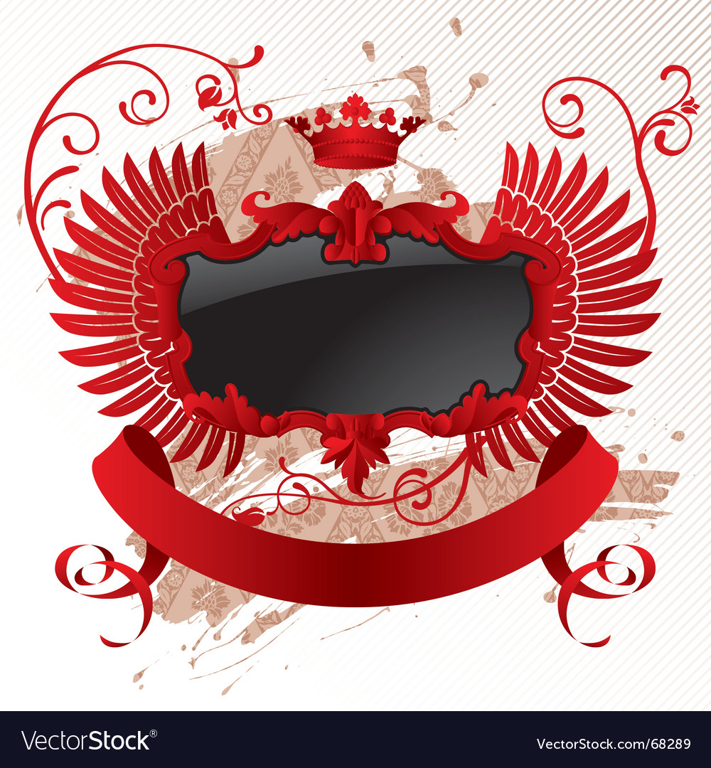 Red black banner vector | Price: 1 Credit (USD $1)