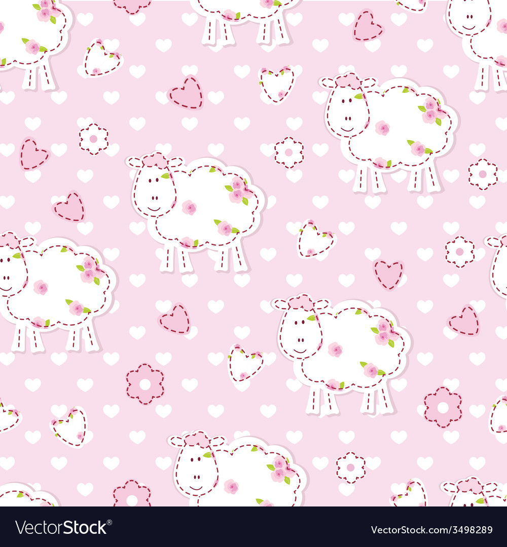 Seamless pattern with sheep vector | Price: 1 Credit (USD $1)