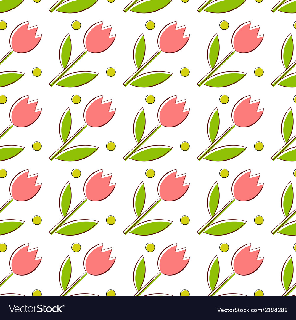 Seamless texture with tulips vector | Price: 1 Credit (USD $1)