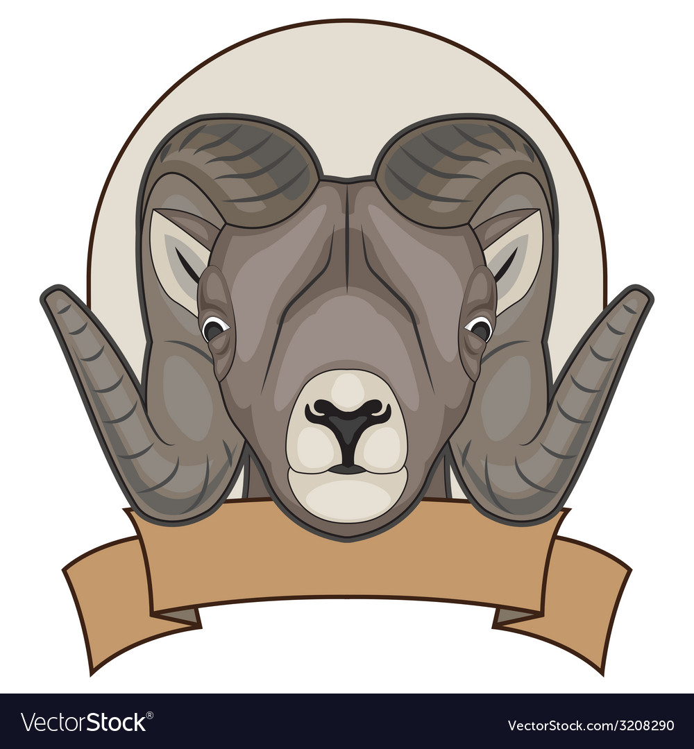A sheep with horns vector | Price: 1 Credit (USD $1)