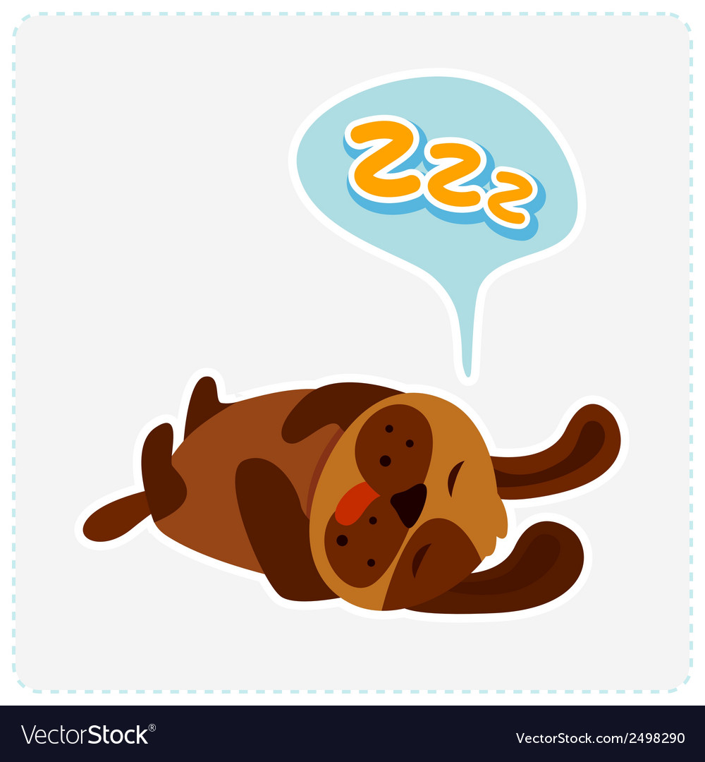 Cute cartoon dog is sleeping vector | Price: 1 Credit (USD $1)