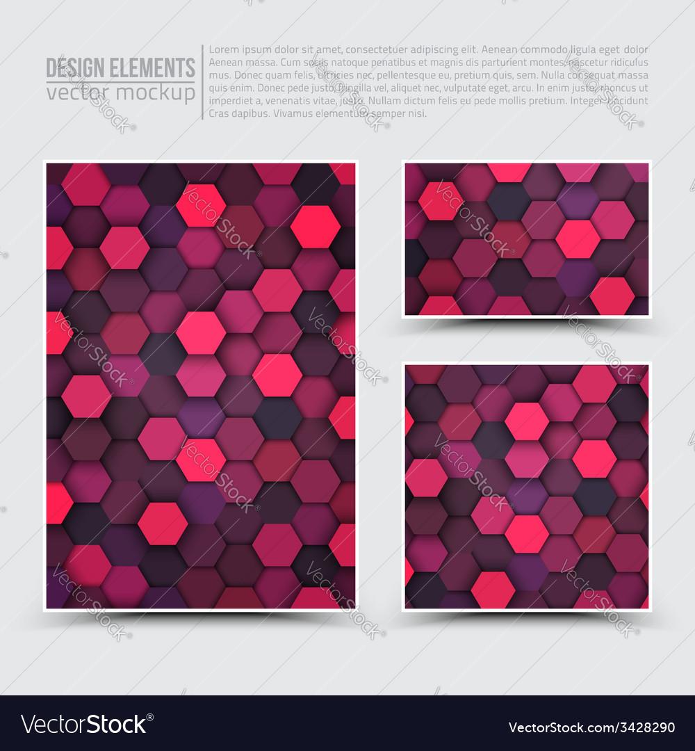 Design elements template vector | Price: 1 Credit (USD $1)
