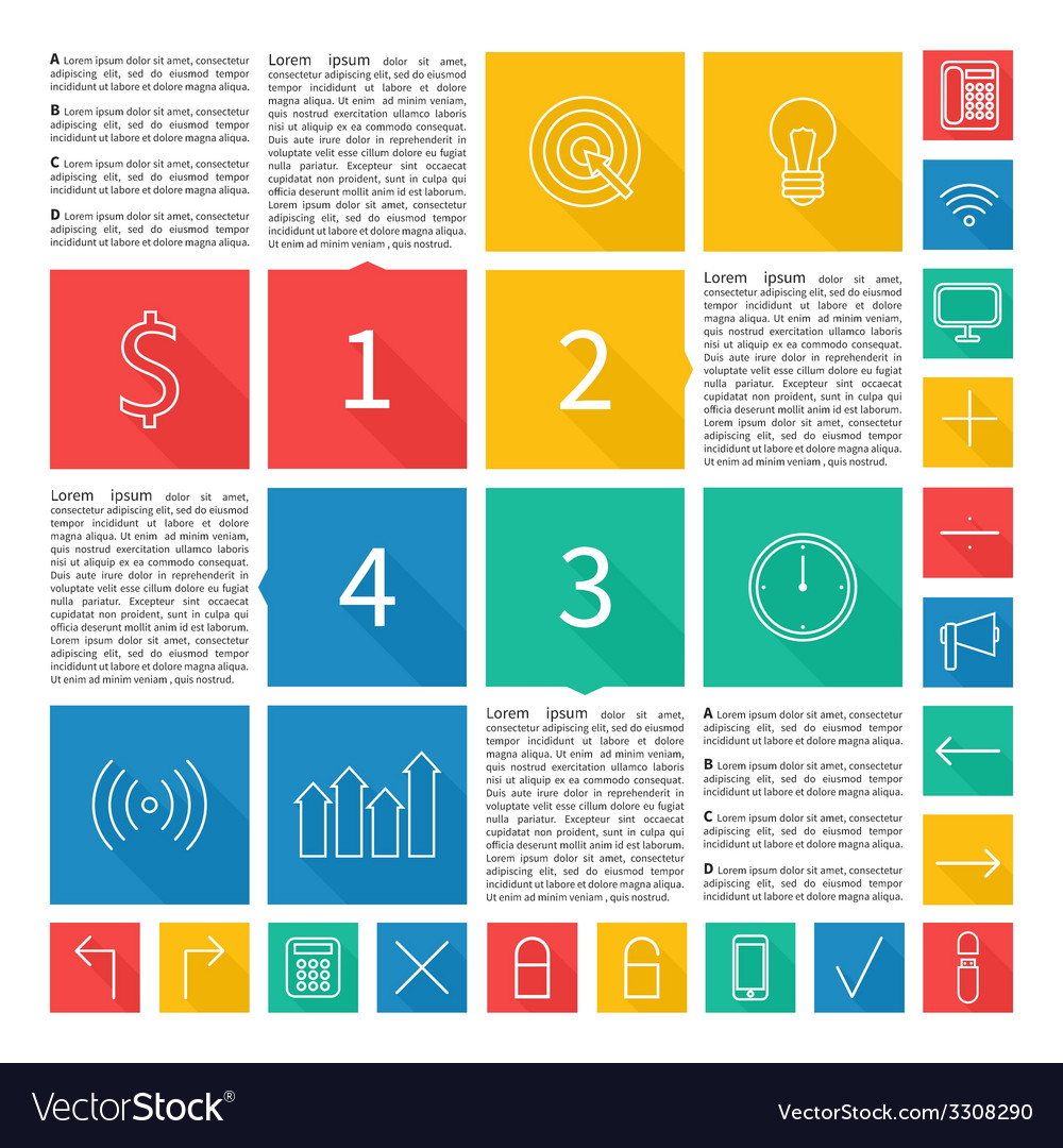 Infographic design flat user interface abstract vector   Price: 1 Credit (USD $1)