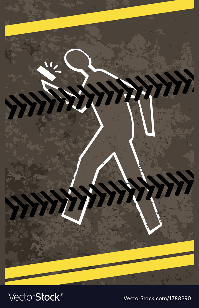 Injured crossing a road with telephone vector | Price: 1 Credit (USD $1)