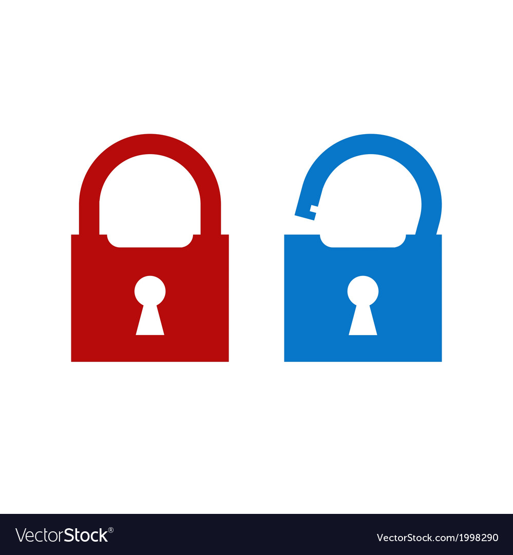 Lock unlock icon vector | Price: 1 Credit (USD $1)