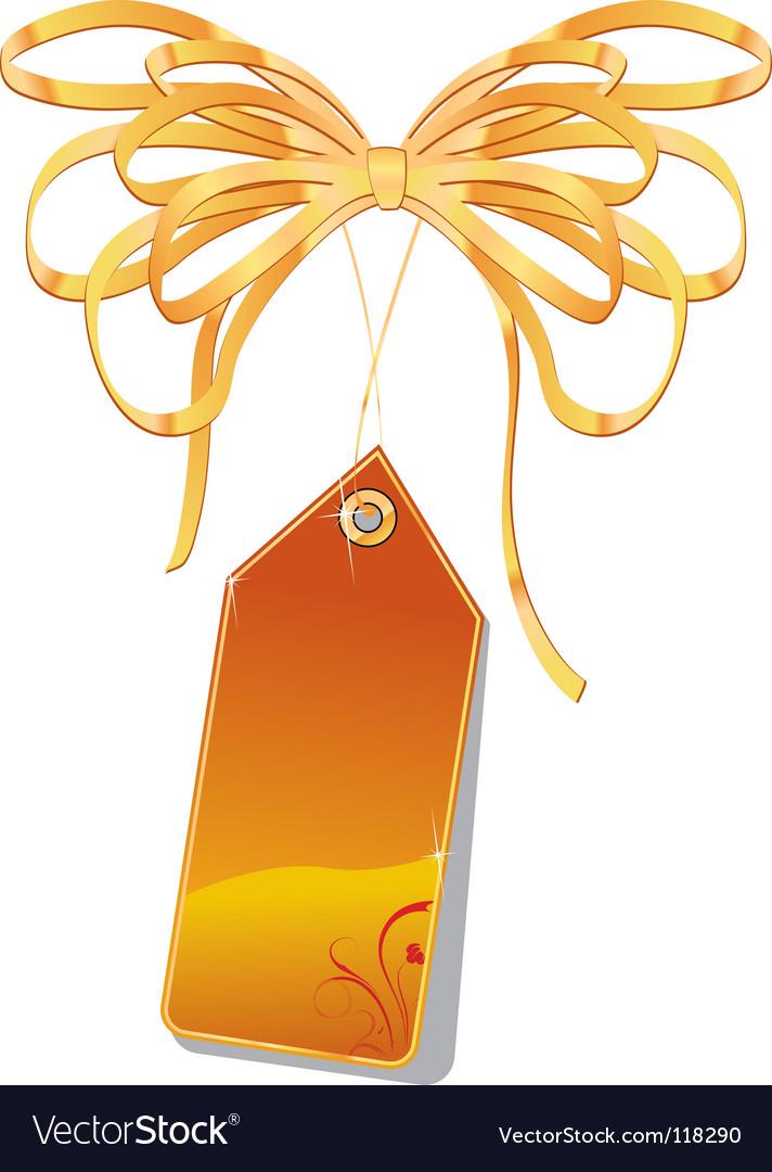 Orange tag vector | Price: 1 Credit (USD $1)