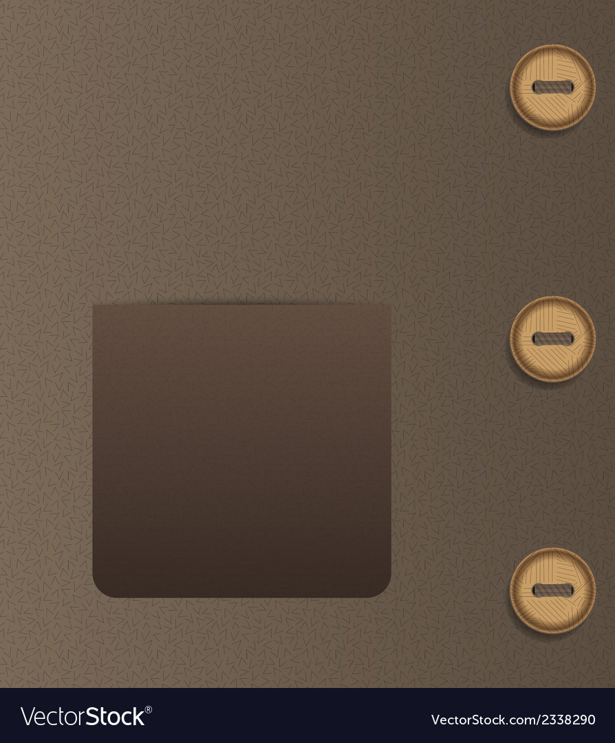 Pocket and buttons vector | Price: 1 Credit (USD $1)